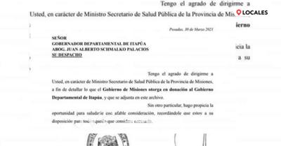 ITAPÚA RECIBIÓ MEDICAMENTOS E INSUMOS DE MISIONES, ARGENTINA