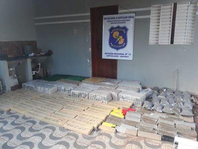 Antinarcóticos incautó más de una tonelada de marihuana en una vivienda en Capitán Bado
