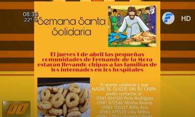 Semana Santa solidaria, campaña de pobladores de Fernando de la Mora