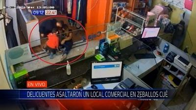 Asaltan local comercial en Zeballos Cué y se llevan dinero