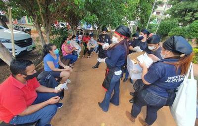 Chipas elaboradas en el Buen Pastor fueron donadas a familiares de pacientes con covid-19