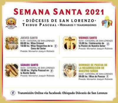 Catedral de San Lorenzo: Horario de ceremonias principales de Semana Santa