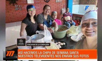 Televidentes de Telefuturo envían fotos haciendo chipa