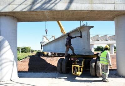 Puente Héroes del Chaco: trabajos se concentran en el viaducto de acceso de Chaco'i