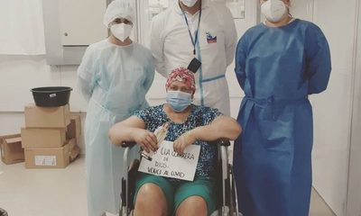 Paciente oncológica supera COVID