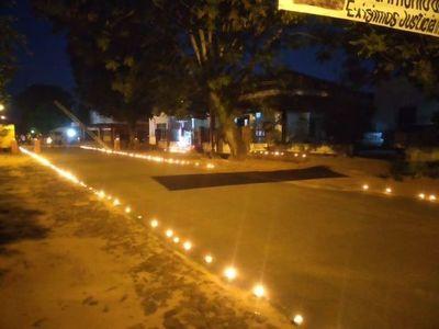 Con luminaria y reclamo recuerdan fundación de Santa Rosa, Misiones