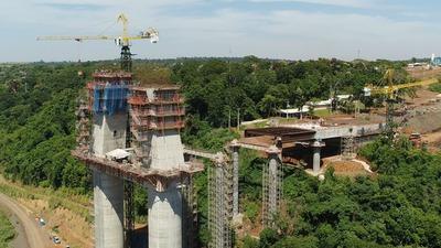 Puente de la Integración: Concluyen corrimiento del segundo tramo del tablero