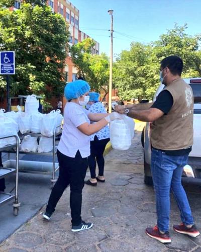 Programa Paraguay Solidario entregó más de 2.300 platos de comidas en hospitales