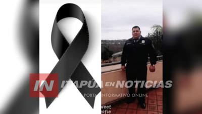JOVEN POLICÍA DE CAAZAPÁ FALLECE A RAÍZ DEL COVID 19.