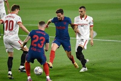 Duro tropiezo del Atlético de Madrid ante Sevilla en la liga española