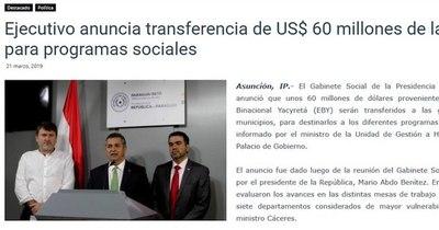 La Nación / Yacyretá proveyó menos de la mitad de información sobre gastos sociales