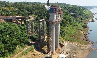 Concluyó segundo tramo del tablero del Puente de la Integración