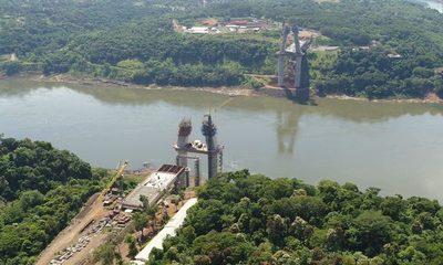 Concluye segundo tramo de tablero del puente de la Integración en lado paraguayo