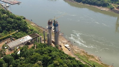 Iniciarán corrimiento del tercer tramo del tablero del Puente de la Integración