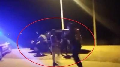PMT de Capiatá involucrado en pelea entre automovilistas y agentes de la Caminera