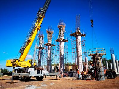 Empieza a tomar forma el futuro viaducto de acceso al Puente Héroes del Chaco