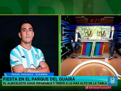 Miguel Paniagua en Primer Turno