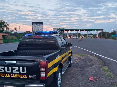 Patrulla Caminera reportó 240 conductores sancionados por conducir en estado etílico