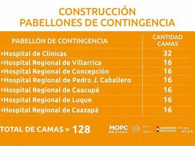 MOPC adjudicó la construcción de nuevos pabellones que sumarán 128 camas de UTI