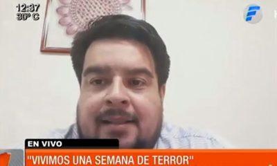 """Dr. Roque Silva: """"Vivimos una semana de terror"""""""
