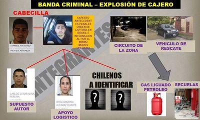 Buscan identificar a cuatro chilenos asaltacajeros