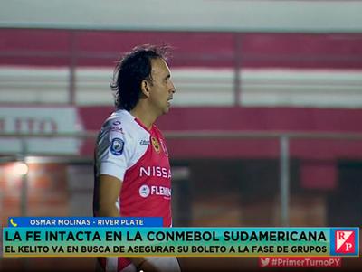 River Plate jugará sin pensar en la ventaja, comenta Osmar Molinas