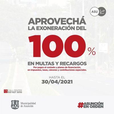 Municipalidad de Asunción da exoneración del 100% en multas de impuestos