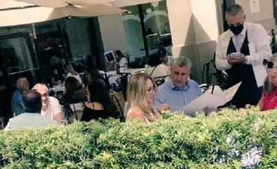 Captan a Villamayor almorzando en lujoso restaurante de Miami