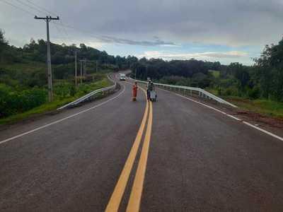 La nueva ruta María Auxiliadora –Natalio registra 95% de avance