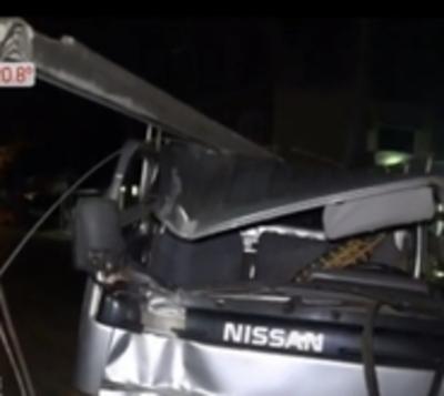 Capiatá: Conductor presuntamente en estado etílico provoca accidente