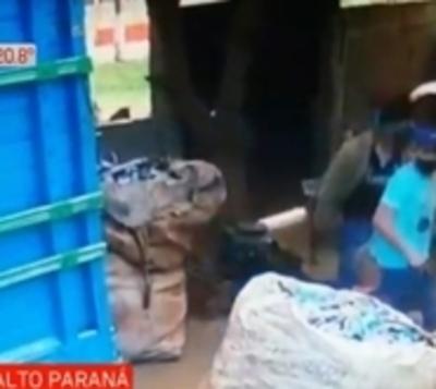 Violento asalto a empresa recicladora
