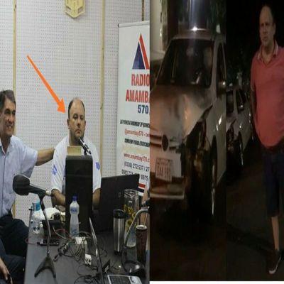 Locutor de Radio Amambay bajo efecto del alcohol protagonizó accidente, quiso escapar y fue detenido por transeúntes