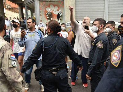 Paraguayo Cubas protagoniza incidentes en el centro de Asunción