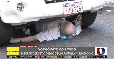 Incidentes entre Paraguayo Cubas y agentes policiales