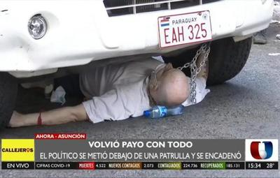 "Exsenador ""Payo"" Cubas protagoniza incidentes"