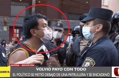 Detienen a hombre que golpeó a policía