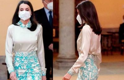 Polémica por falda de la reina Letizia de España