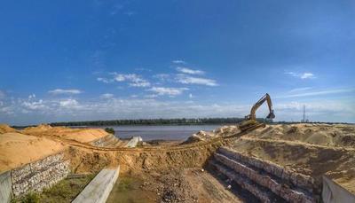 Obras para el futuro Parque Lineal II en la Costanera Norte registran 30% de avance