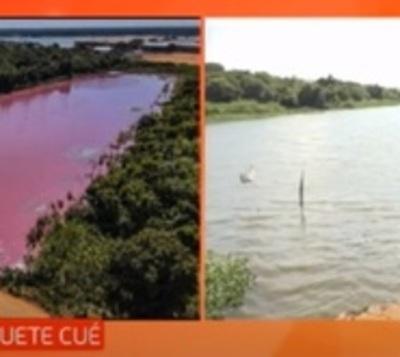 Laguna Cerro recupera su color
