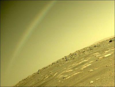 ¿Un arcoíris en Marte?