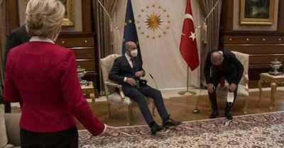 Acusan de machista a Erdogan por el trato que le dio a la presidenta de la Comisión Europea