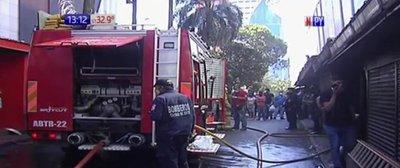 CDE: Incendio en conocida galería