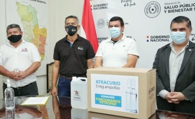Petropar dona a Salud Pública 8.200 ampollas de Atracurio