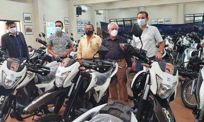 Gobernación inicia proceso de entrega de 68 moto patrullas a la Policía Nacional