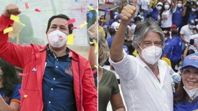 Arauz y Lasso cerraron sus campañas con la mira en el balotaje del domingo en Ecuador