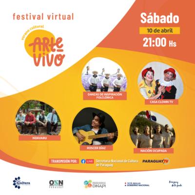 Sepa la grilla del Festival Virtual #ArteVivoVeranoCultural para este sábado y domingo