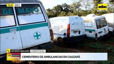 Cementerio de ambulancicas en Caazapá