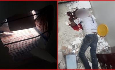 Brasileño sufre lesiones graves tras caer del techo de tinglado