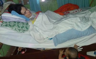 Entró feliz al hospital para dar a luz, salió en estado vegetativo