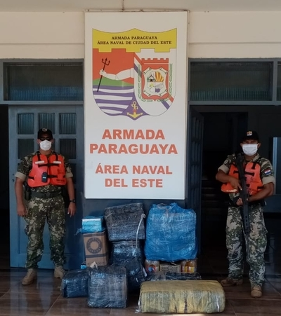 Incautan mercaderías argentinas a orillas del rio Paraná